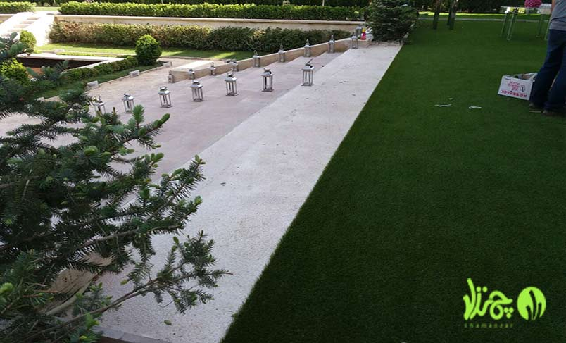 تحویل پروژه های چمن مصنوعی برخی از باغ تالارها در گرمدره