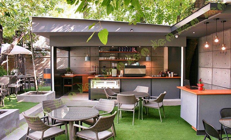 پروژه چمن مصنوعی کافه فضای باز شهر کتاب