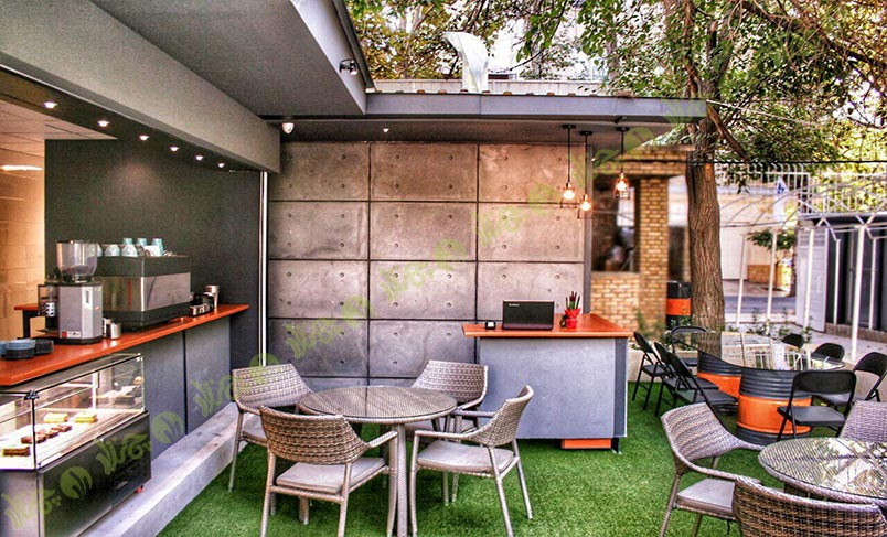 چمن مصنوعی کافه شهر کتاب