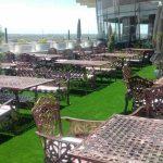 چمن مصنوعی باغ رستوران نیاوران - پروژه شرکت رویال گرس