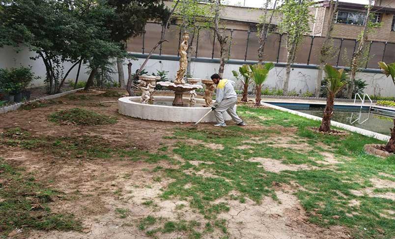 چمن مصنوعی باغ استودیو پاسداران
