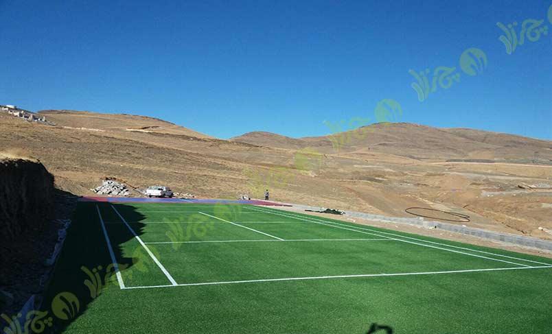 چمن مصنوعی تنیس- پروژه گلستان کوه خوانسار