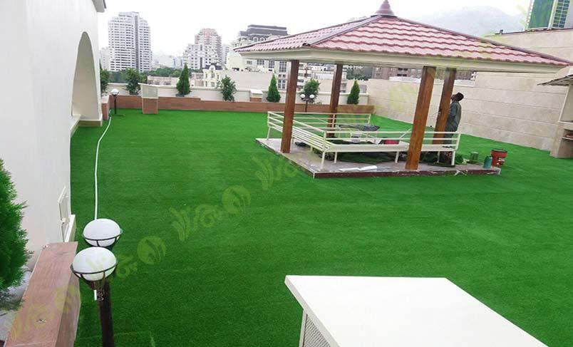 پروژه چمن مصنوعی سقف باغ اندرزگو