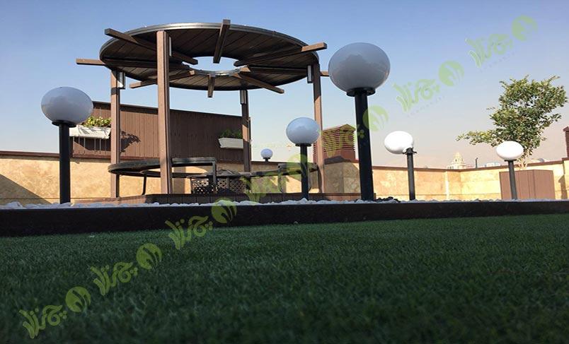 چمن مصنوعی سقف باغ اولنش 1