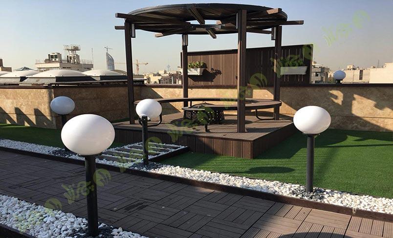 چمن مصنوعی سقف باغ اولنش1