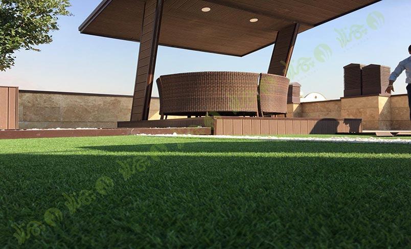 چمن مصنوعی سقف باغ اولنش 12