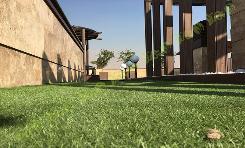 چمن مصنوعی سقف باغ اولنش 15