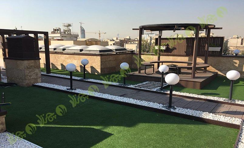 پروژه چمن مصنوعی روف گاردن شرکت آوالانش – جناب آقای رضایی