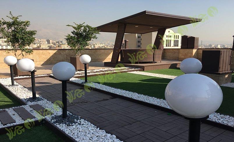 چمن مصنوعی سقف باغ اولنش 5