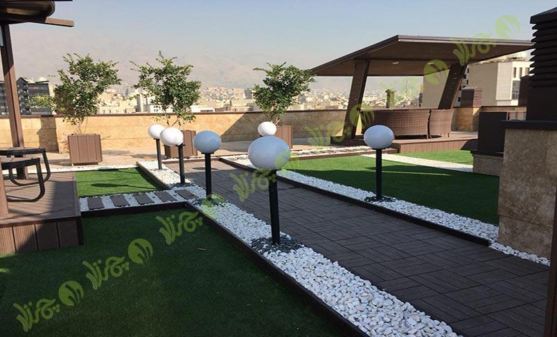 چمن مصنوعی سقف باغ اولنش 6