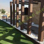 چمن مصنوعی سقف باغ اولنش 7