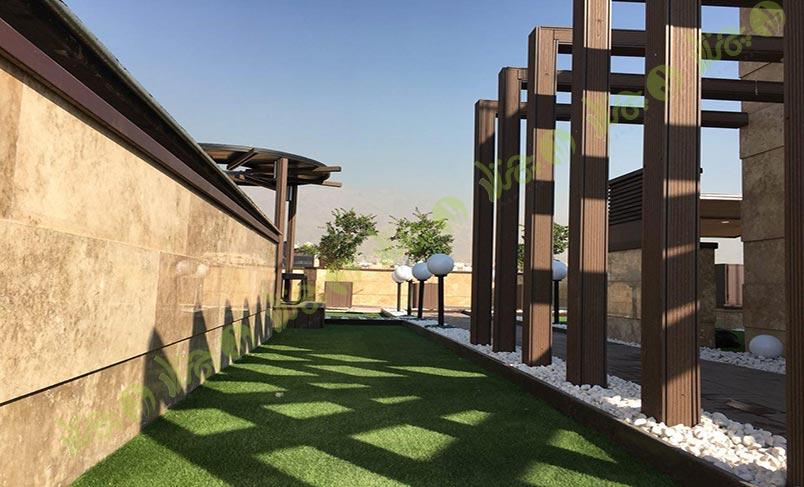 چمن مصنوعی سقف باغ اولنش 8