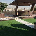 چمن مصنوعی سقف باغ اولنش 9