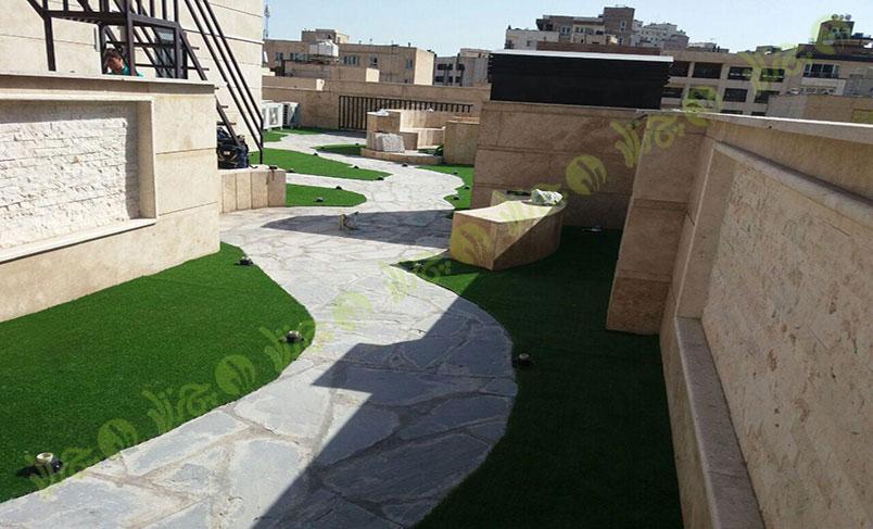پروژه چمن مصنوعی سقف باغ قیطریه 2