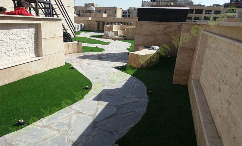 پروژه چمن مصنوعی سقف باغ قیطریه 3