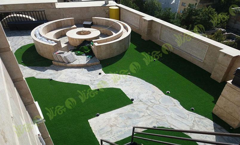 چمن مصنوعی سقف باغ قیطریه 4