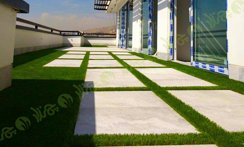 پروژه چمن مصنوعی سقف باغ زاهدی