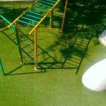 چمن مصنوعی مدرسه - فضای بازی نیکان خیابان دولت