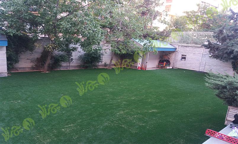 چمن مصنوعی مدرسه سعادت آباد