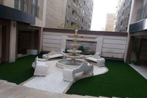 پروژه چمن مصنوعی حیاط - نیاوران