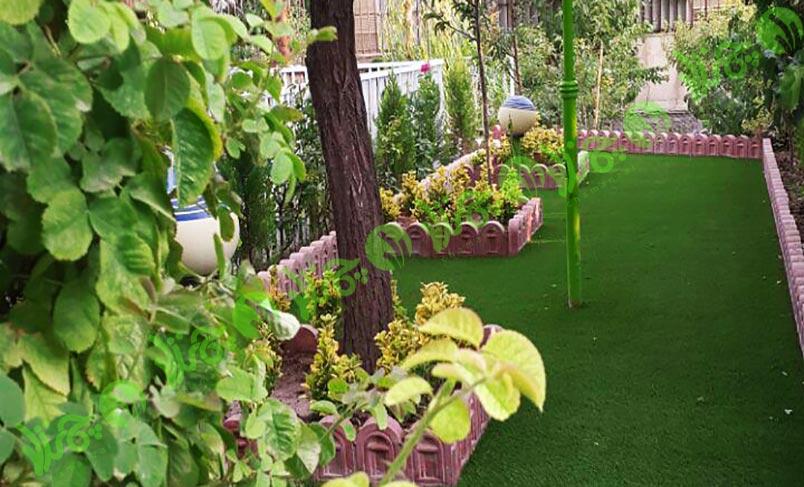 چمن مصنوعی در حیاط - پروژه فشم