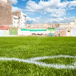 چمن مصنوعی در حیاط مدرسه فردوسی