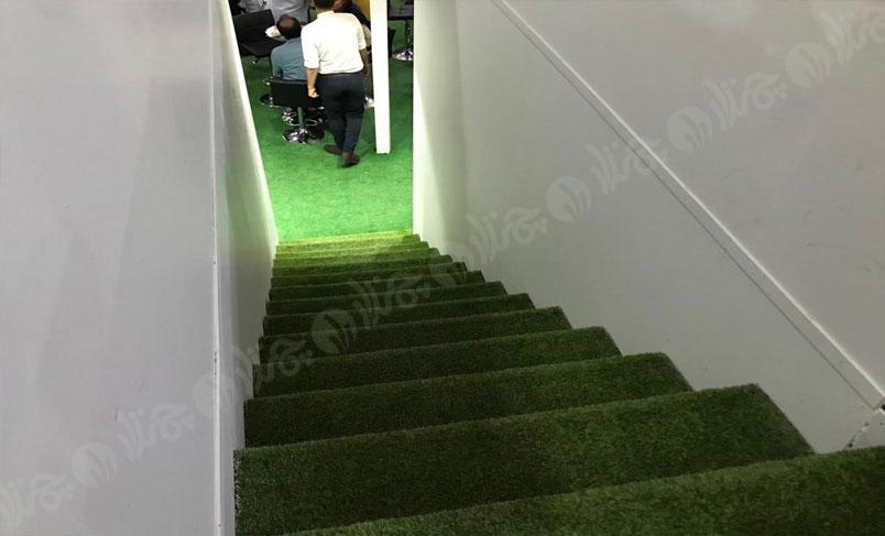چمن مصنوعی تزئینی در غرفه شرکت فروتلند