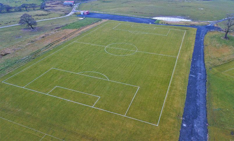 تغییر کاربری زمین کشاورزی به زمین چمن مصنوعی فوتبال
