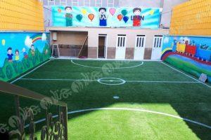 چمن مصنوعی حیاط مدرسه احسان تهرانپارس