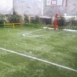 چمن مصنوعی در حیاط مدرسه دخترانه مهر آیین