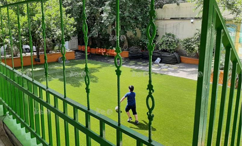 چمن مصنوعی زمین بازی مدرسه دخترانه پیوند