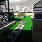 چمن مصنوعی روف گاردن در برج مسکونی نیاوران