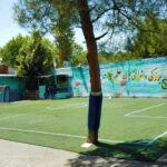 چمن مصنوعی در حیاط مدرسه مهرآباد جنوبی