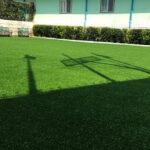 چمن مصنوعی صحرا در حیاط مدرسه سفارت ایتالیا